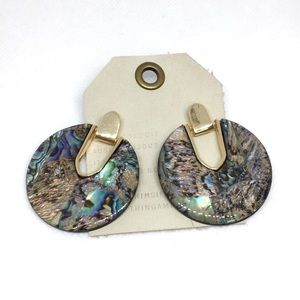 NWT Anthropologie Round Earrings